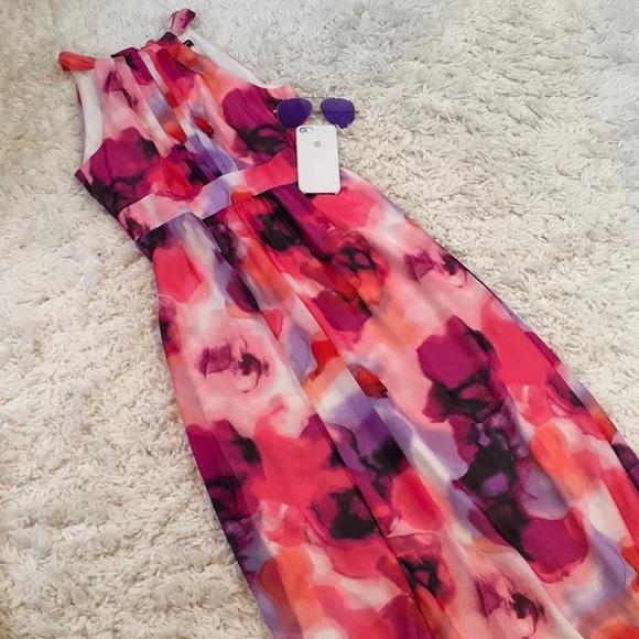 0c236225fff INC International Concepts Dresses   Skirts - INC International Concept  Floral Halter Maxi Dress